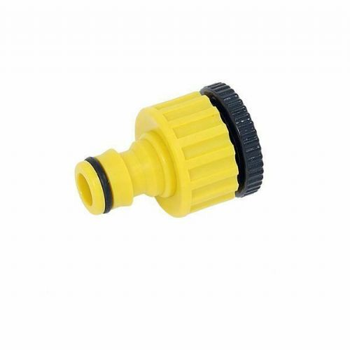 "1/2"" 3/4"" On Threaded Tap Connector House Pipe Adaptor Garden Water Hose"